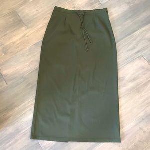Rickies Army Green Midi Skirt -Size 14